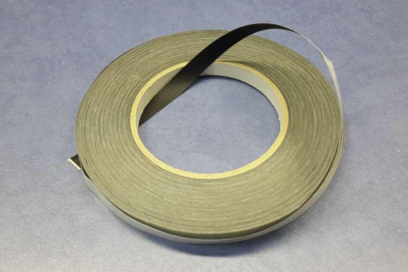 Лента клеевая, черная, кромка, ширина 10 мм