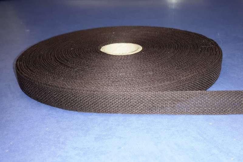 Тесьма для укрепления швов, цвет темно-коричневый
