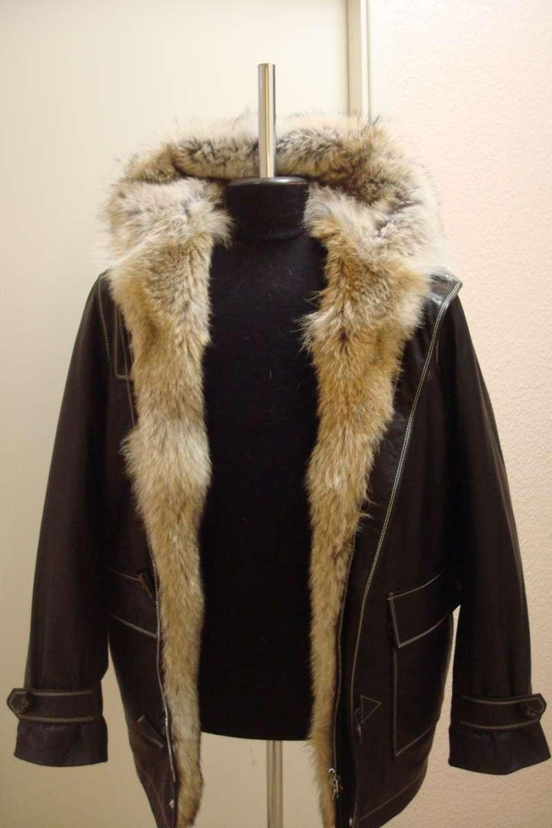 Куртка кожаная с меховой подстежкой