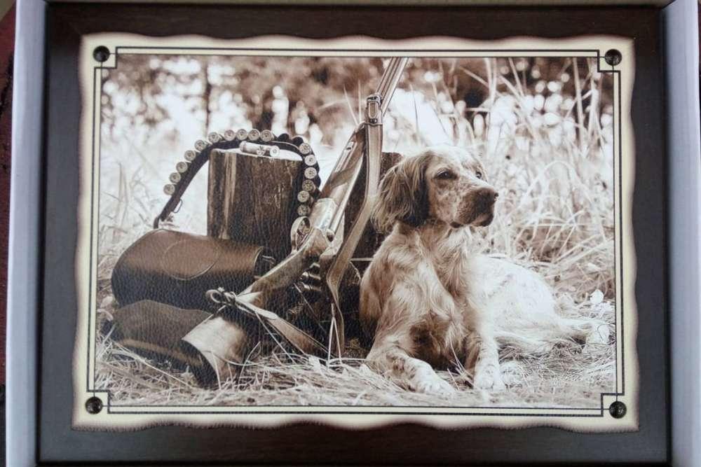 №5 Плакетка Охотничья собака