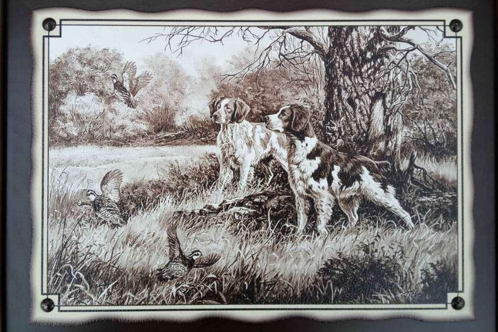 №6 Плакетка Охотничьи собаки