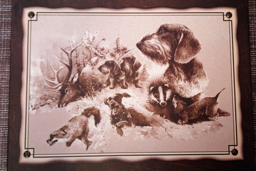№7 Плакетка Охотничьи собаки