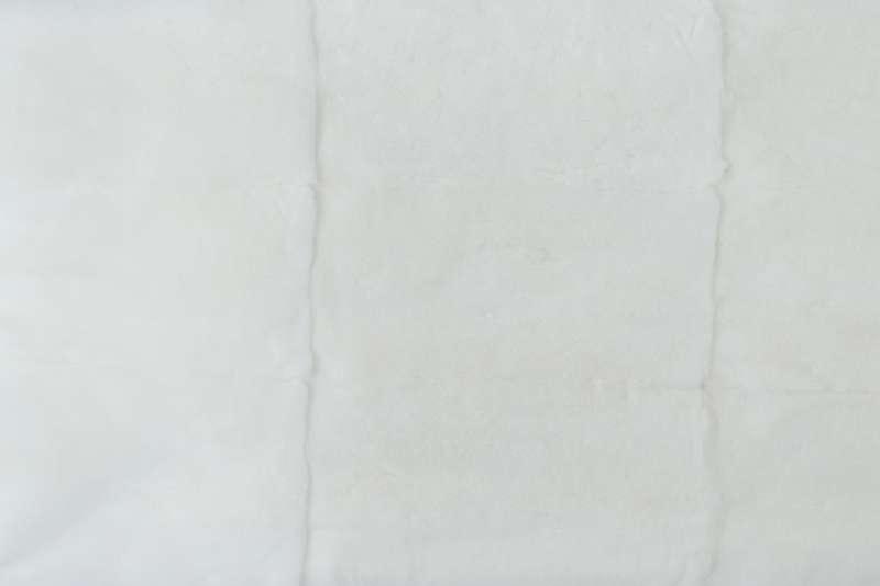 Меховые пластины кролик-рекс Пластина из шкурок кролика-рекс, цвет белый
