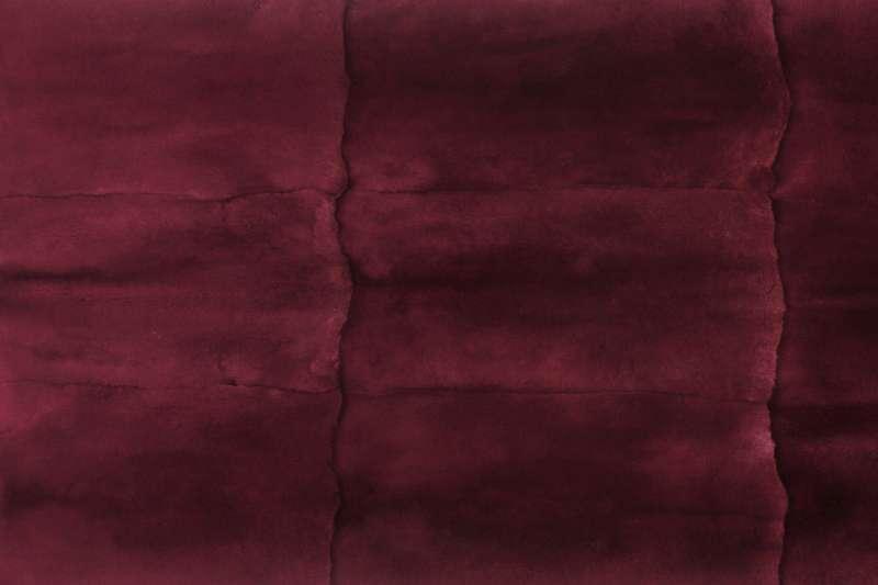 Пластина из шкурок кролика-рекс, цвет бордо