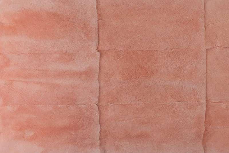 Пластина из шкурок кролика-рекс, цвет персиковый