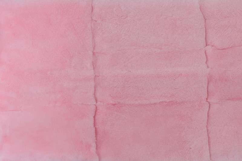 Меховые пластины кролик-рекс Пластина из шкурок кролика-рекс, цвет розовый