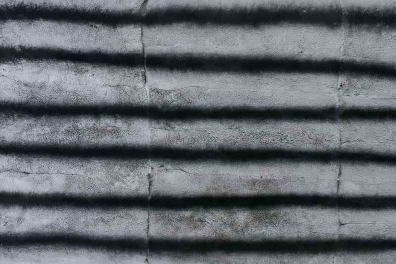 Пластина из шкурок кролика-рекс, цвет 6 темных полос