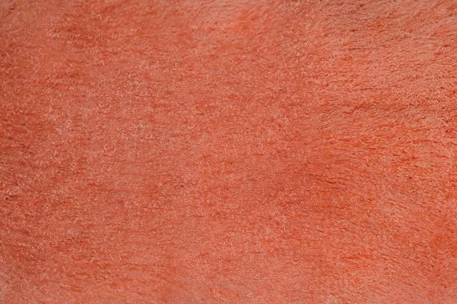 Меховые пластины лама цвет оранж
