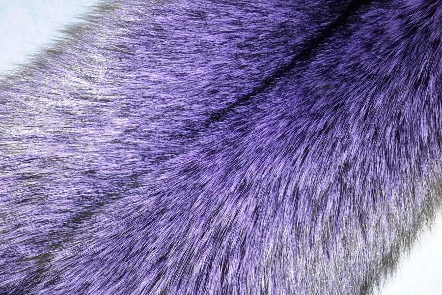 Лиса крашеная Лиса, фиолетовый цвет