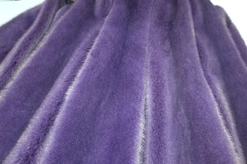 Норка крашеная Норка, фиолетовый цвет