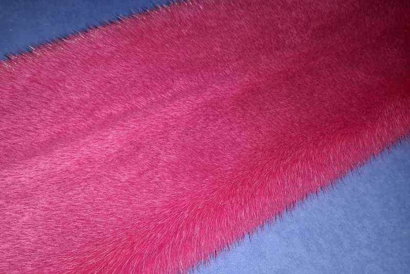 Норка крашеная Норка, пурпурно-розовый цвет