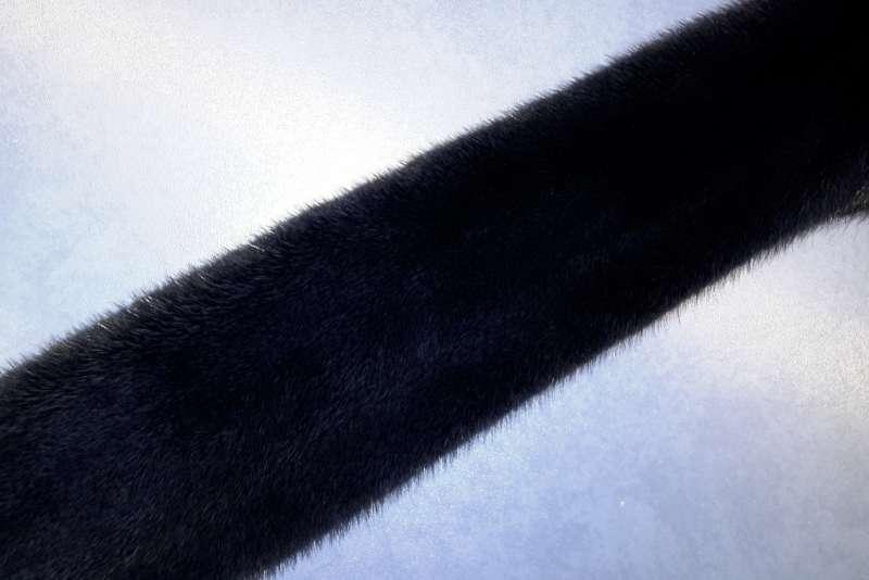 Норка крашеная Норка, темно-синий цвет