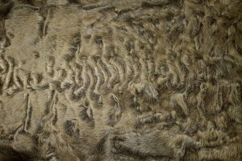 Каракуль крашеный Каракуль, цвет светло-коричневый