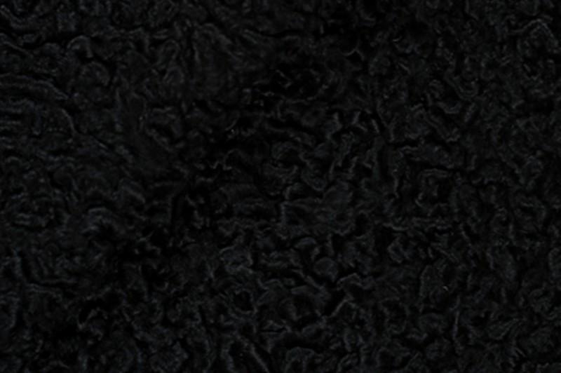 Каракуль черный с завитком (для отделки)
