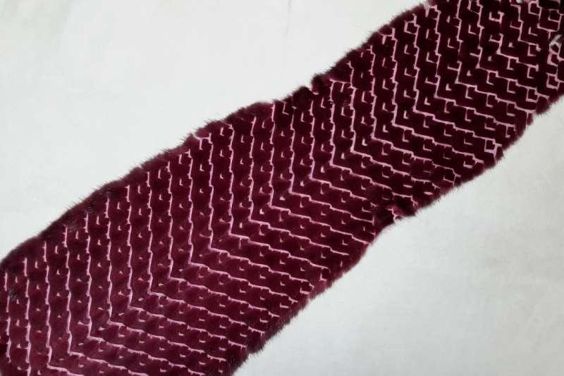Норка стриженая вид галки цвет Бордо