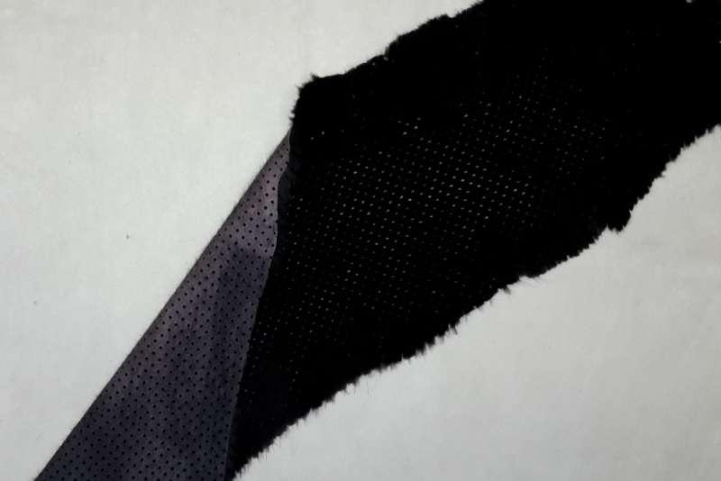 Норка стриженая с перфорацией, цвет Черный