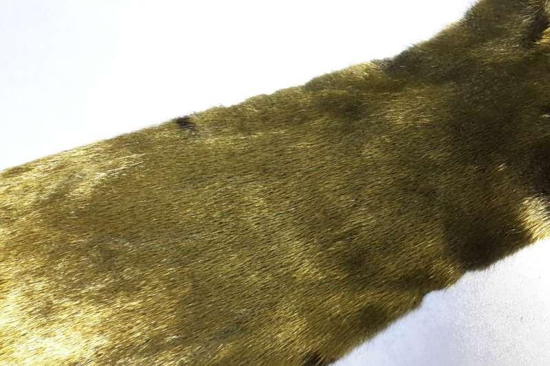 Норка с металлизацией Черная норка с напылением под золото