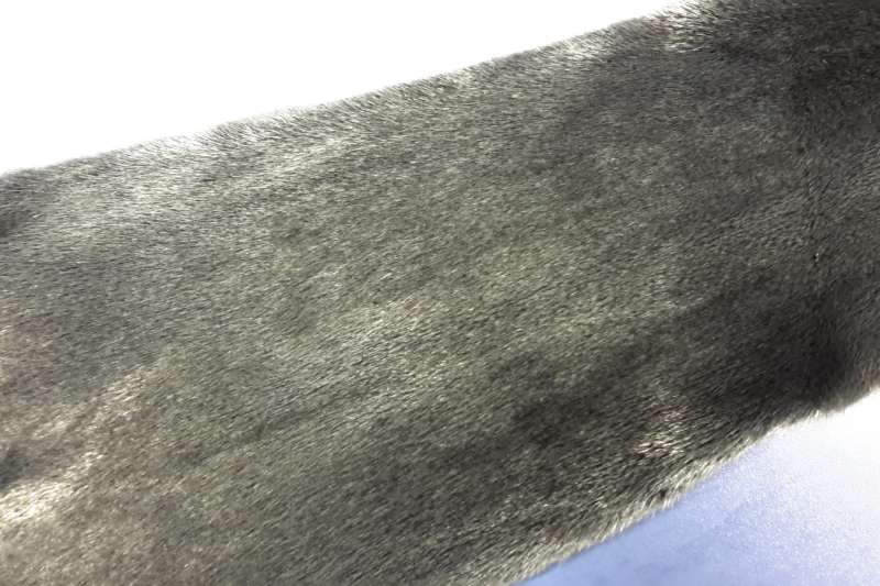 Норка с металлизацией Черная норка вельвет с напылением под серебро