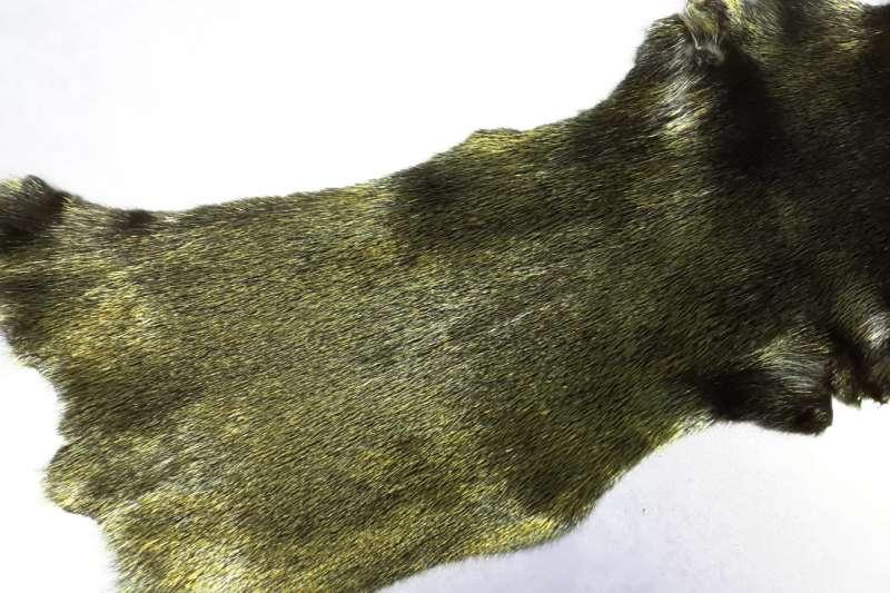 Норка с металлизацией Черная норка с напылением зеленый мультиколор